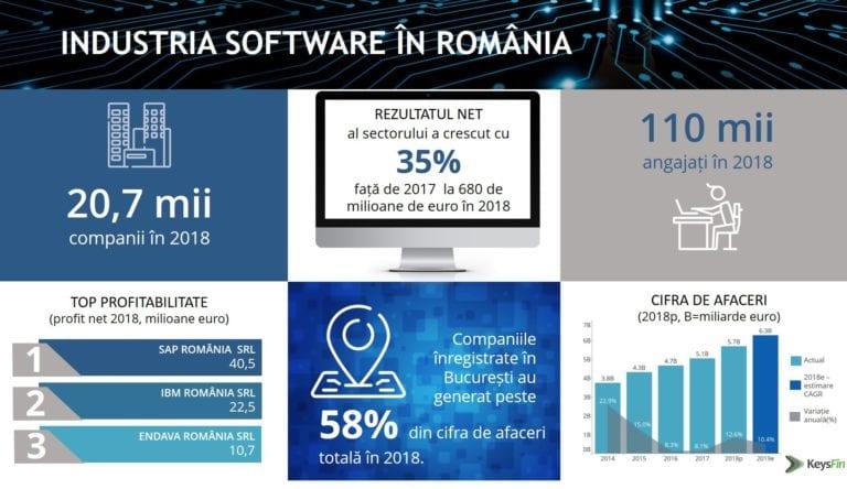 Studiu: Afacerile dezvoltatorilor de software vor depăşi pragul de 6 mld.euro în 2019;capitalul străin se află aproape la egalitate cu investiţiile locale