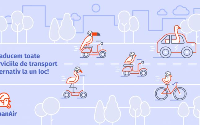 Se lansează UrbanAir, o platformă de transport urban unde poţi găsi toate soluţiile de mobilitate alternativă