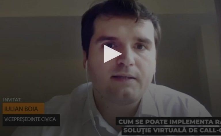 Iulian Boia, vicepreşedinte CIVICA: Am implementat o soluţie virtuală de call center în doar o săptămână în timpul stării de urgenţă
